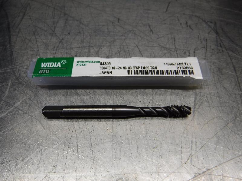 Widia 10-24NC H3 HSS Spiral Flute Tap 8304TC 10-24NC H3 3FSP EMSS TICN (LOC2728C)