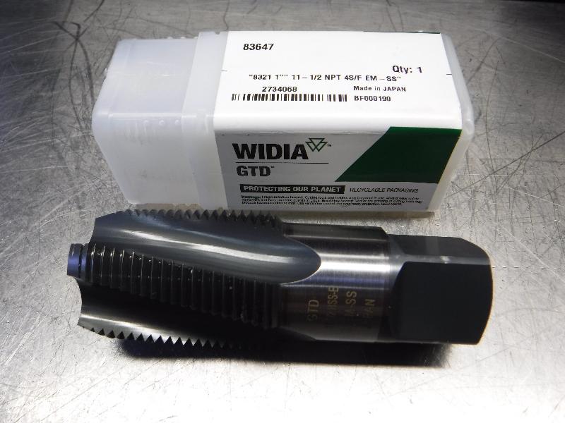 Widia 11-1/2NPT Spiral Flute Pipe Tap 11-1/2 NPT 4S/F EM-SS (LOC1312B)