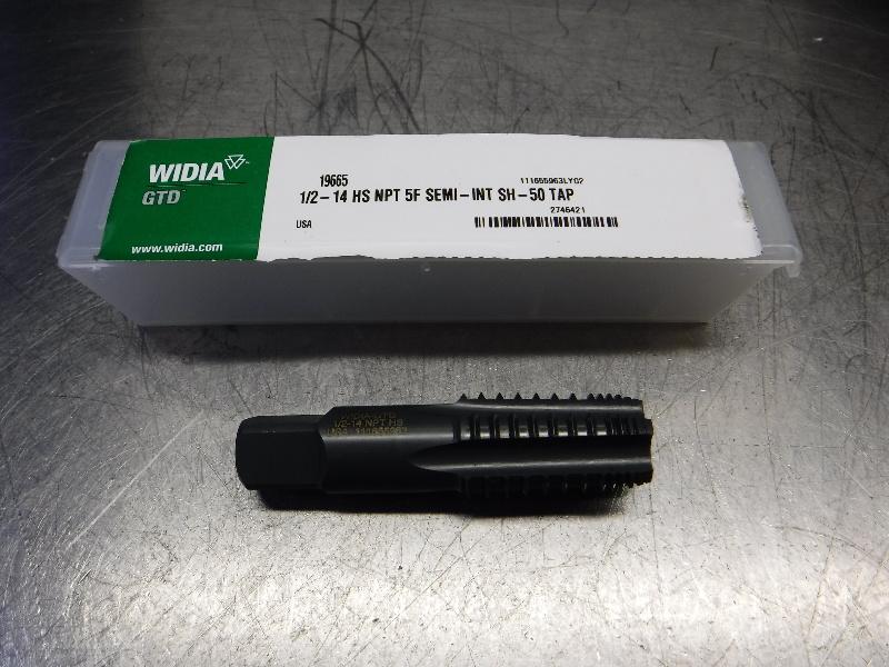 Widia 1/2-14 NPT Taper Pipe Tap 1/2-14 HS NPT 5F SEMI-INT SH-50 TAP (LOC1312B)
