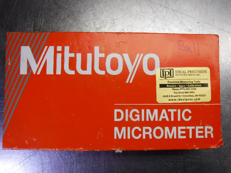 """Mitutoyo Digimatic Micrometer 0"""" to 1"""" / 0mm to 25mm Range 395-371-30 (LOC2004A)"""