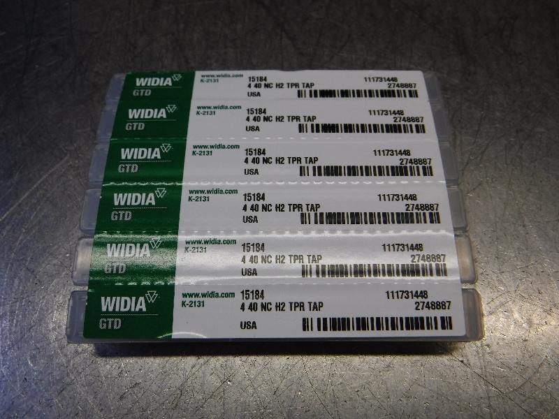 Widia 4-40NC H2 HSS 3 Flute Tap QTY6 4 40 NC H2 TPR TAP (LOC1314B)