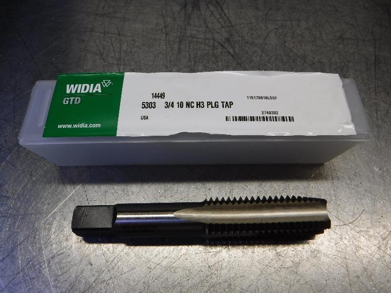 Widia 3/4-10NC H3 HSS Plug Tap 5303 3/4 10 NC H3 PLG TAP (LOC1818A)