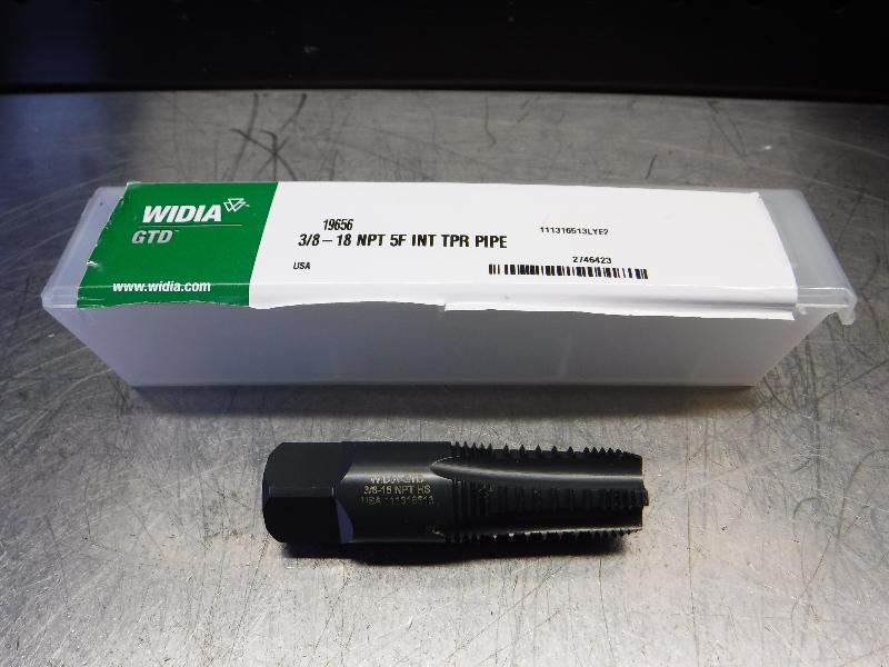 Widia 3/8-18NPT HSS Taper Pipe Tap 3/8-18 NPT 5F INT TPR PIPE (LOC1823A)