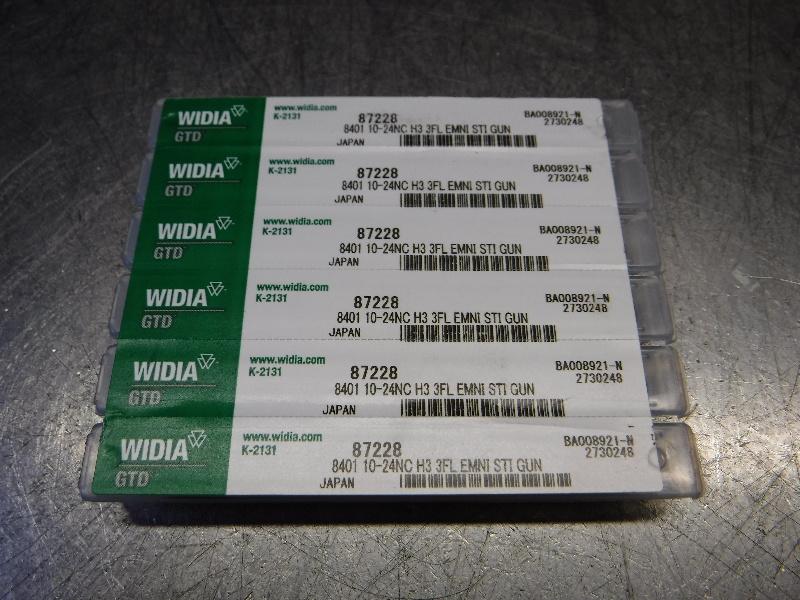 Widia 10-24NC H3 Spiral Point Tap QTY6 10-24NC H3 3FL EMNI STI GUN (LOC1823A)