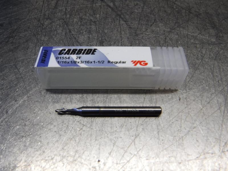 "YG-1 1/16"" 2 Flute Carbide Endmill 1/8"" Shank 01554TC (LOC2213A)"