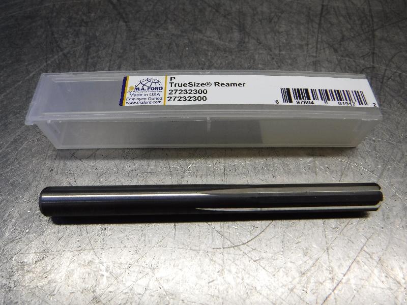 "M.A. Ford TrueSize P(0.3230) Carbide Reamer 0.3170"" Shank 27232300 (LOC2213A)"