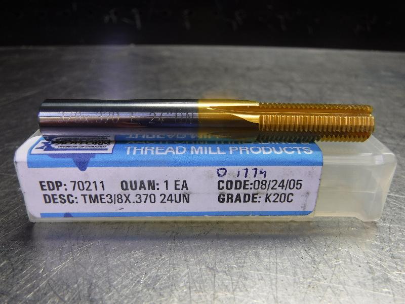 """Xactform 3/8"""" Solid Carbide Thread Mill TME3/8X.370 24UN (LOC1908A)"""