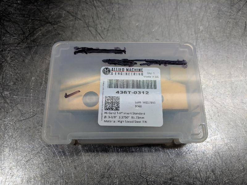 Amec Carbide Spade Insert Series #6 Gen 2 T-A M4 436T-0312 (LOC2644A)