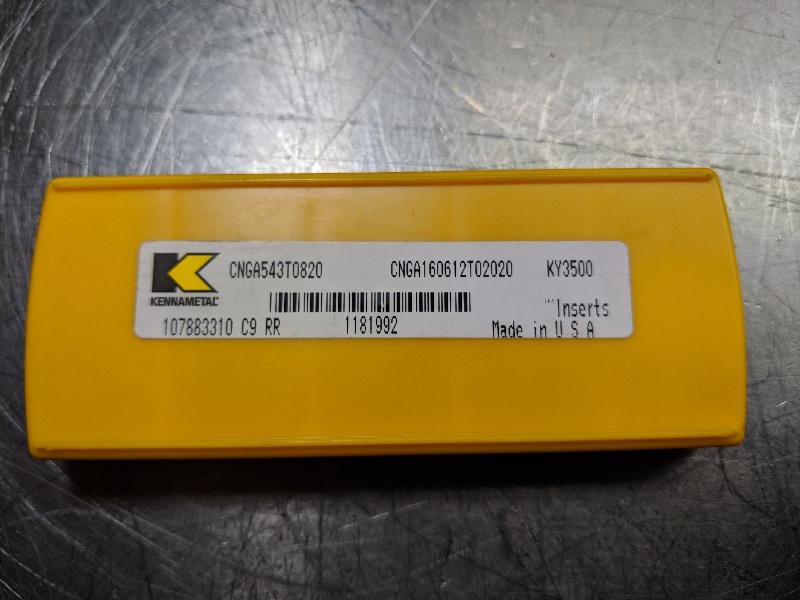 Kennametal Ceramic Insert CNGA 543 T0820 KY3500 QTY:5 (LOC628A)