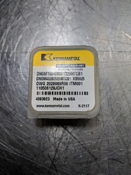 Kennametal CBN Tipped Carbide Insert DNGM 432CB1 KB5625 QTY:1 (LOC625)