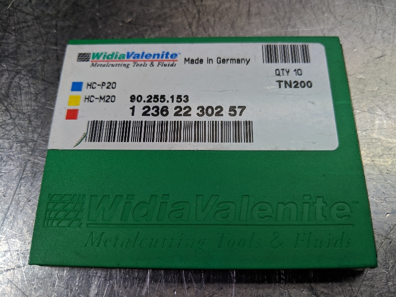 Widia Carbide Insert 90.25.153 TN200 QTY:10  (LOC609)