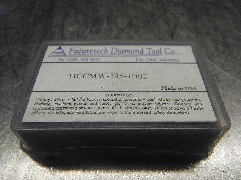 Futuretech PCBN Carbide Inserts QTY2 TICCMW-325-1 B02 (LOC886)