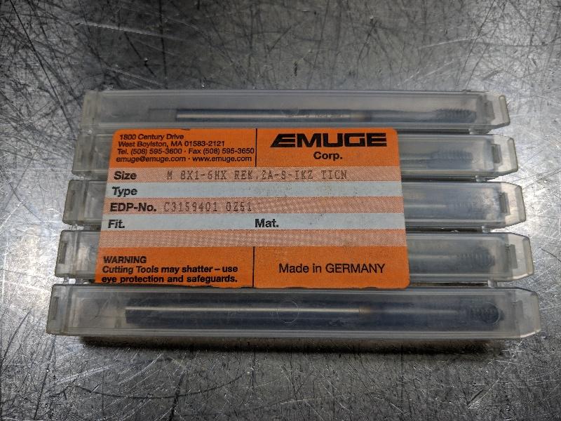 Emuge Cobalt M8x1.00 Right Hand Thread Tap M8x1-6HX REK.2A QTY:5 (LOC558A)