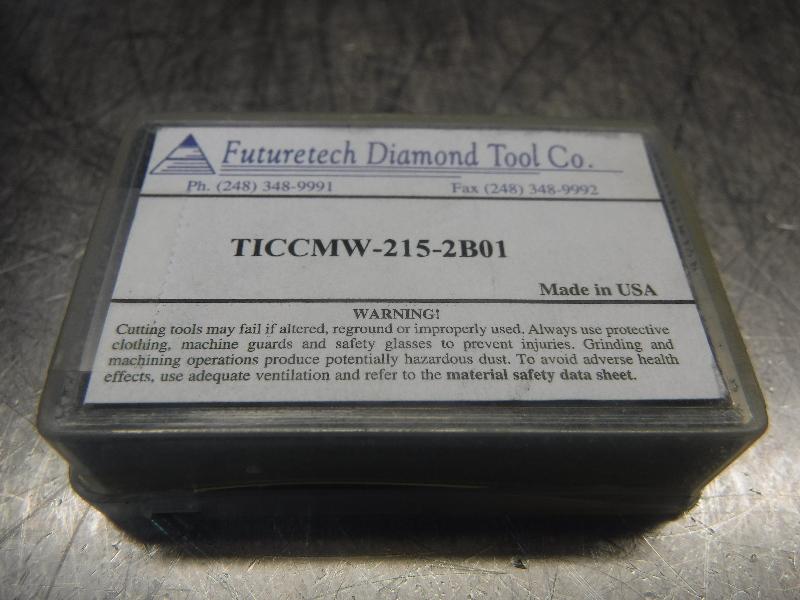 Futuretech PCBN Carbide Inserts QTY2 TICCMW-215-2B01 (LOC887)
