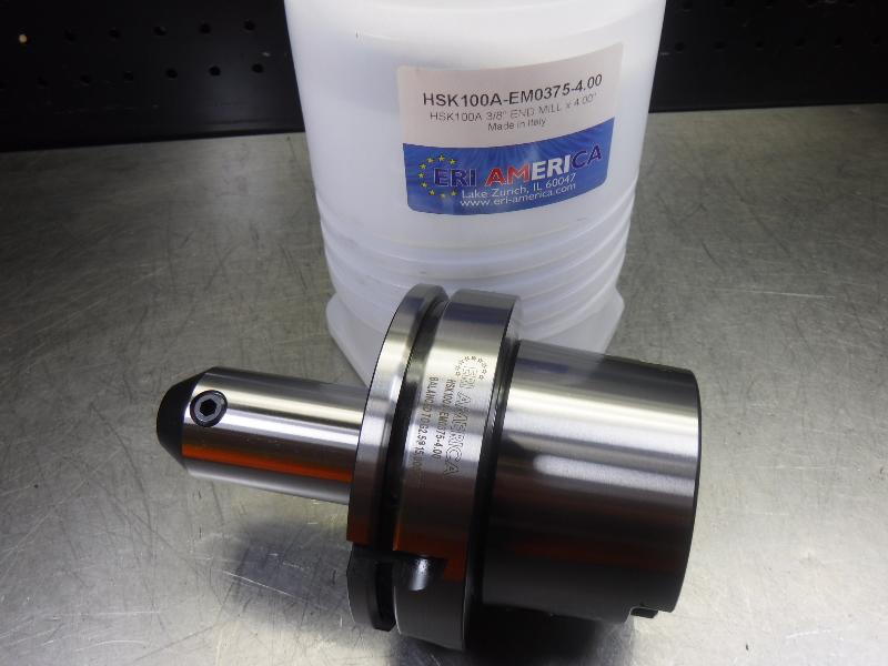 """ERI America HSK 100A 3/8"""" Endmill 4"""" Pro HSK100A-EM0375-4.00 (LOC1746)"""