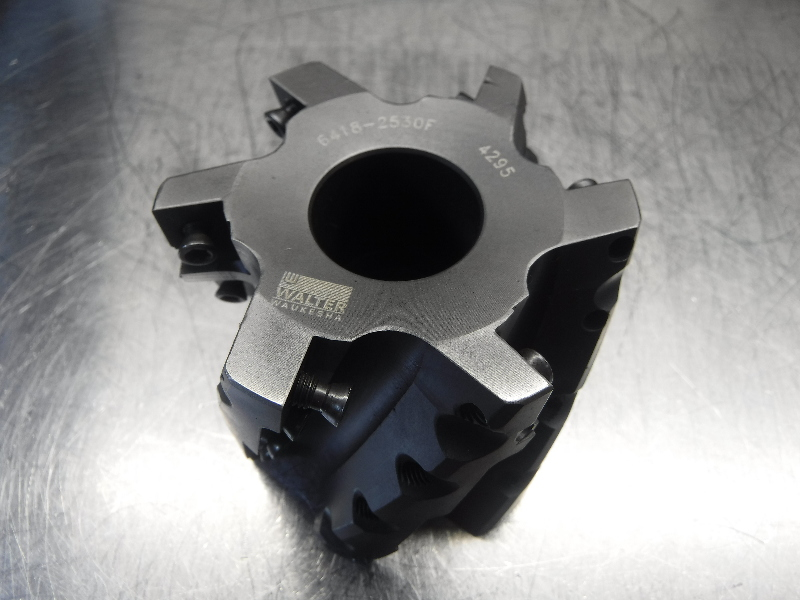 """Walter 3"""" Indexable Facemill Milling Cutter 1.25"""" Arbor 6418-2530F (LOC1609)"""