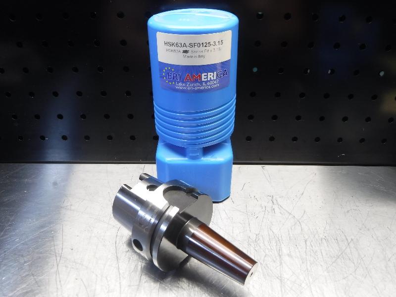 """ERI America HSK 63A 1/8"""" Shrink Fit 3.15"""" Pro HSK63A-SF0125-3.15 (LOC1851B)"""