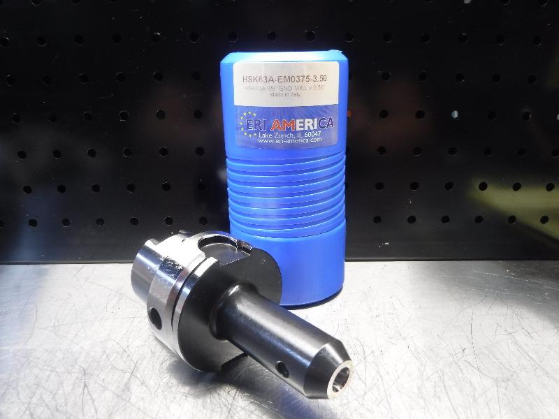 """ERI America HSK63A 3/8"""" Endmill 3.5"""" Pro HSK63A-EM0375-3.50 (LOC1923A)"""