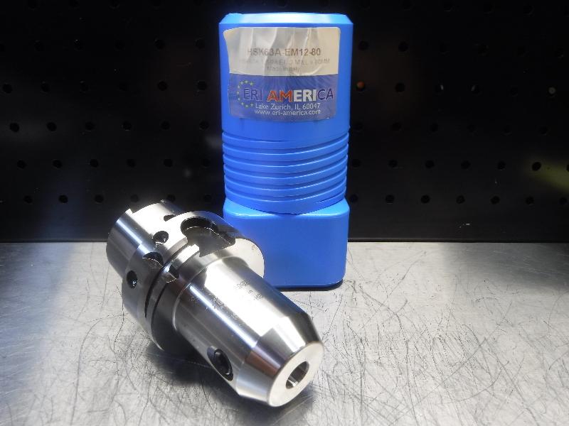 ERI America HSK63A 12mm Endmill 80mm Pro HSK63A-EM12-80 (LOC1923C)