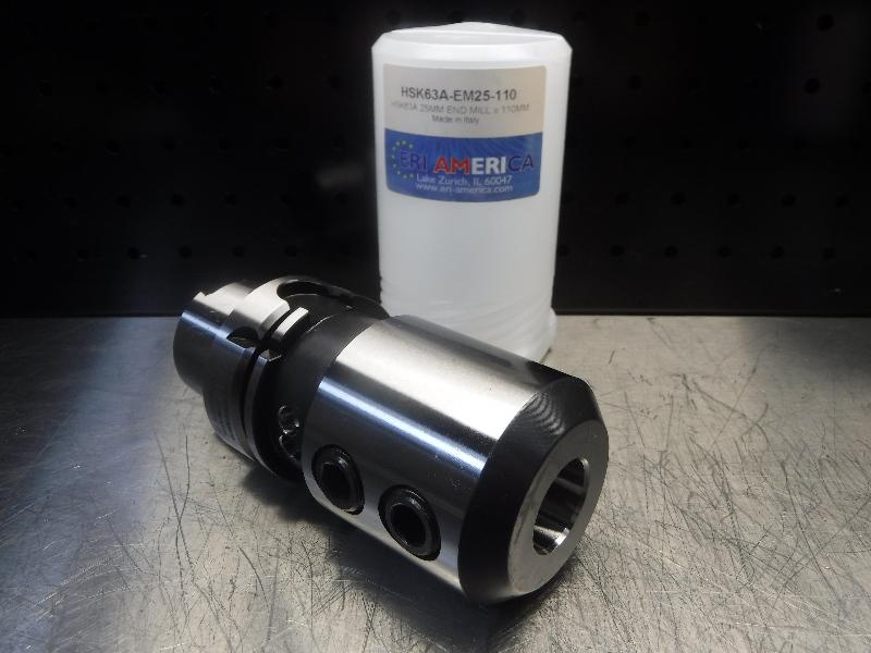 ERI America HSK63A 25mm Endmill 110mm Pro HSK63A-EM25-110 (LOC1764)