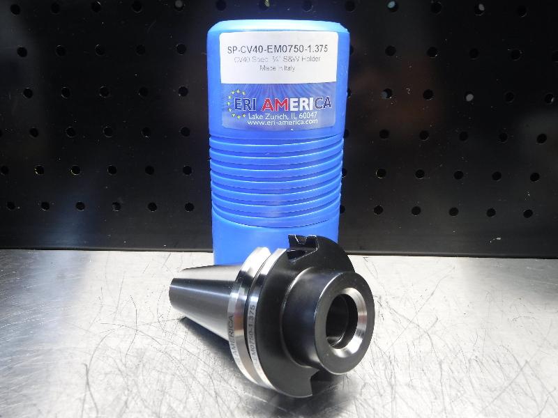 "ERI America CAT40 3/4"" Endmill 1.375"" Pro SP-CV40-EM0750-1.375 (LOC622)"