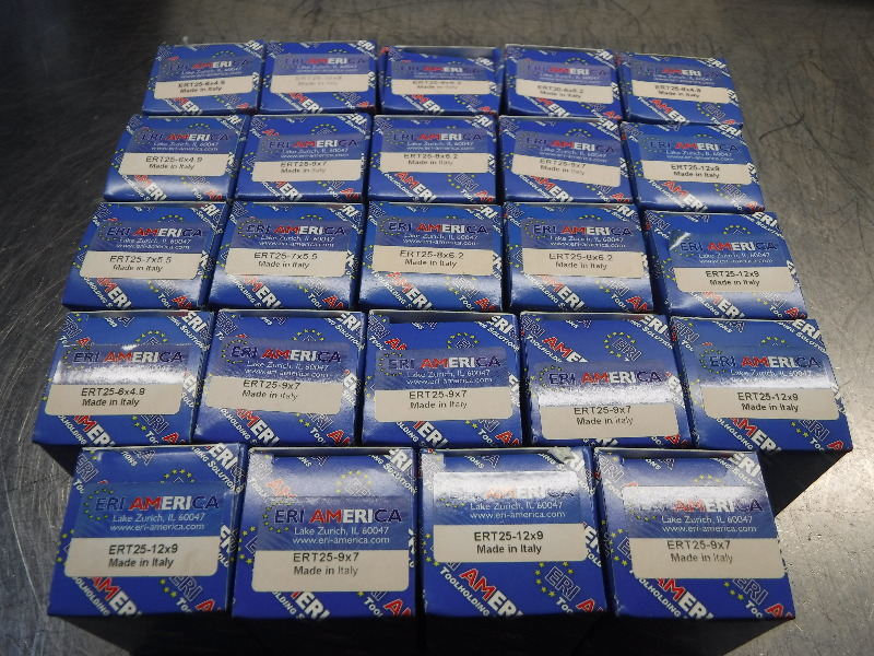 ERI America ERT25 Tapping Collets Lot of 24 Various Sizes (LOC2991B)