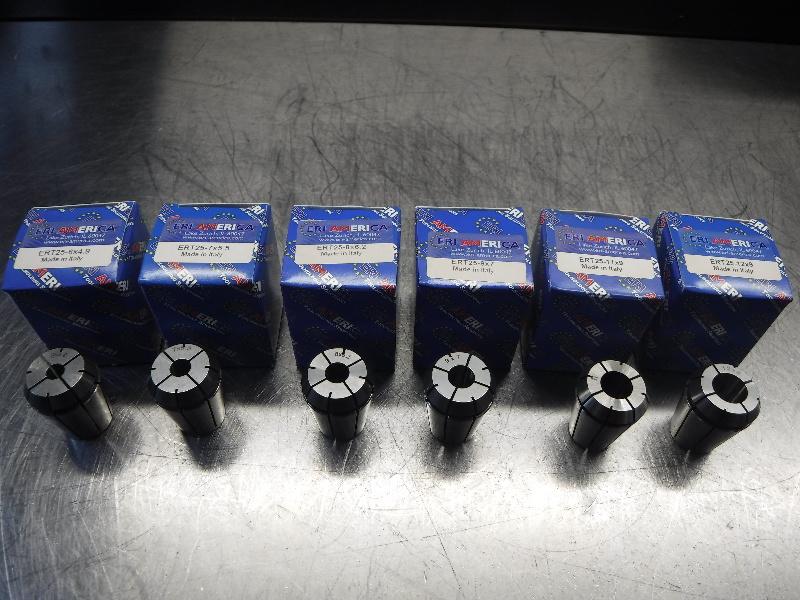 ERI America ERT25 Tapping Collets 6 Piece Metric Set (LOC2992B)