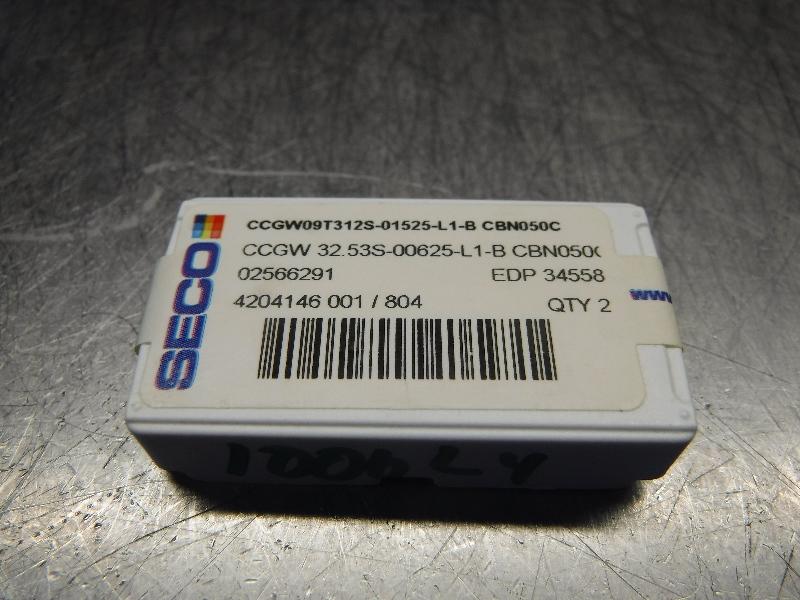 SECO Carbide Inserts CCGW09T312S-01525-L1-B CBN050C (LOC1035A)