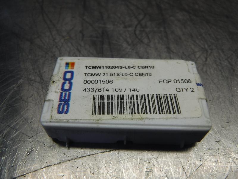 SECO Carbide Inserts (H) TCMW110204S-L0-C CBN10 (LOC2662A)