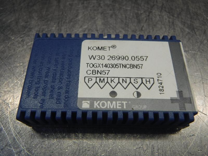 Komet Carbide Inserts QTY1 - W30 26990.0557 / TOGX140305TNCBN57 CBN57 (LOC1134B)