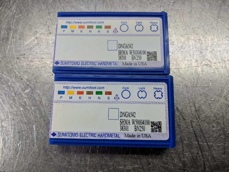 Sumitomo CBN Carbide Insert QTY:2 DNGA 542S BN250 (LOC1178C)