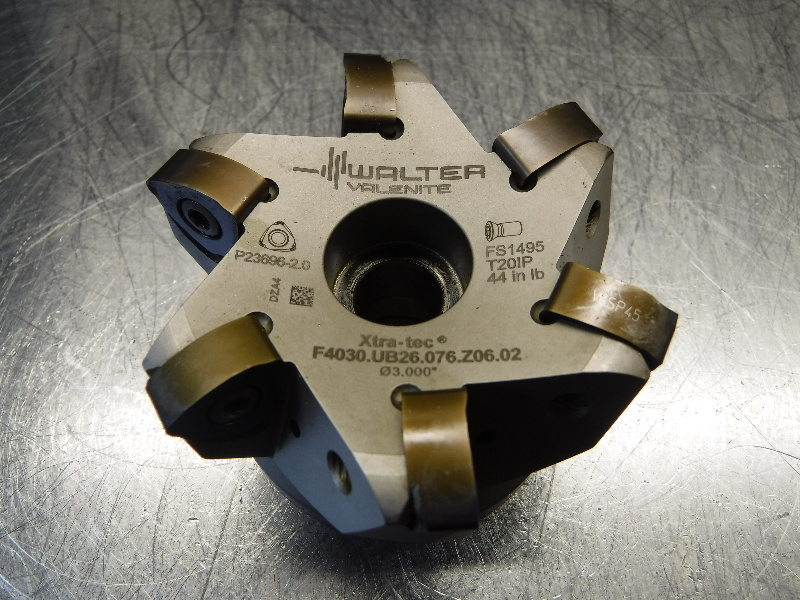 """Walter 3"""" Indexable Facemill 1"""" Arbor F4030.UB26.076.Z06.02 (LOC1199A)"""