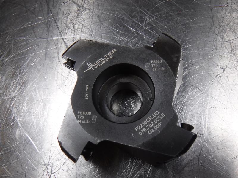 "Walter 3"" Facemill 18mm Arbor F2238CR.UC.076.Z02.025.6 (LOC1298C)"