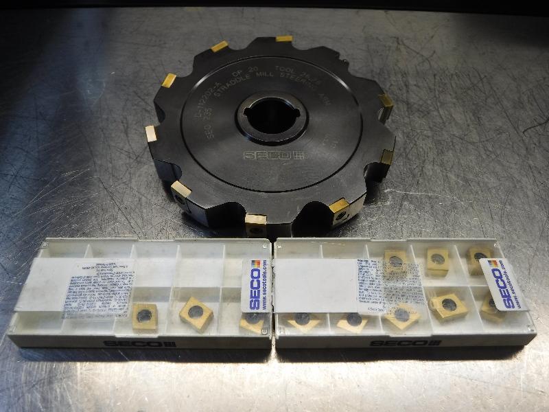"Seco 5.50"" Slot Milling Cutter 3/4"" Width D-112202-A w/ Inserts (LOC1450)"