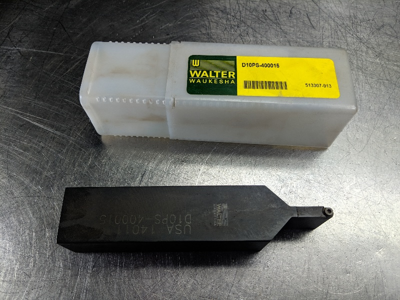"Walter Indexable Lathe Tool Holder 1.25""x1.25"" Shank D 10 PS 400015 (LOC2033A)"