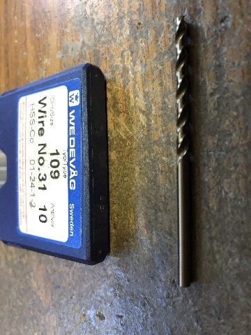 """.2992/"""" 7.6mm HSCO  JOBBER LENGTH DRILL"""