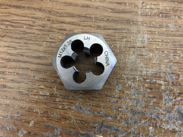 M13 X 1.25 CARBON STEEL HEX RE-THREADING DIE