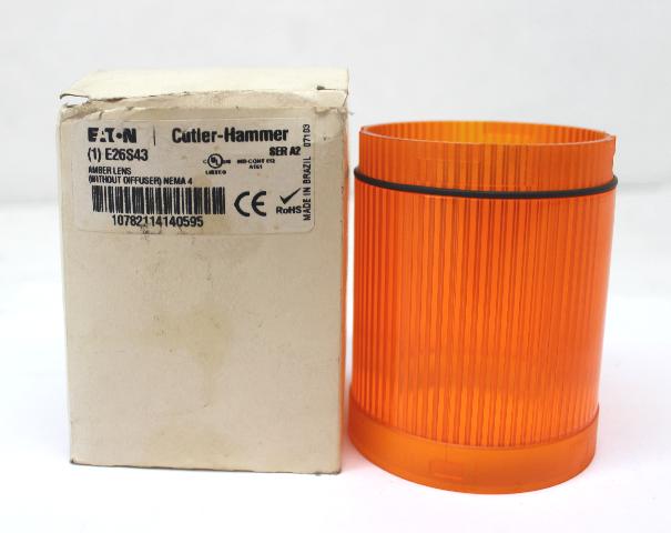 CUTLER-HAMMER E26S43 Stack Light Lens AMBER