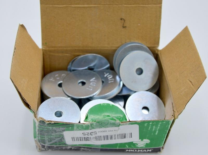 100 Pieces Hillman 290018 Zinc Fender Washers 1//4 x 1-1//2