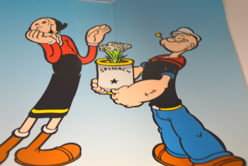 Popeye Olive Oil With Spinach Bouquet Art Cel Sericel Unframed