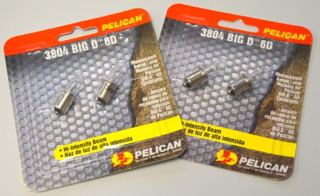 Pelican #3804 Big D Replacement Bulbs. 2 - 2 pks.