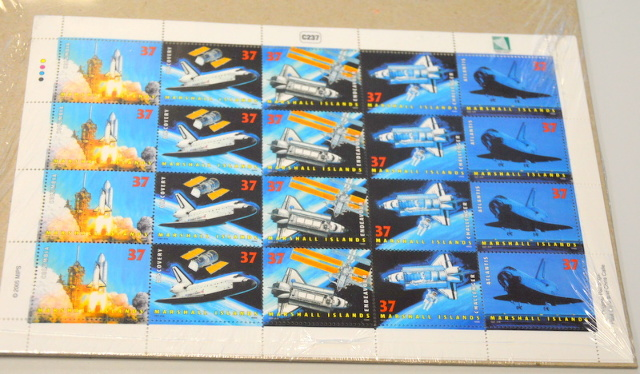 2005 First Day Block of 50th Anniversary Marshall Islands - 37 Cent Stamps.