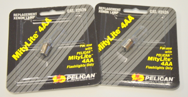 Pelican 2424 Lamp for MityLite 4AA  - 2 -Replacement Lights