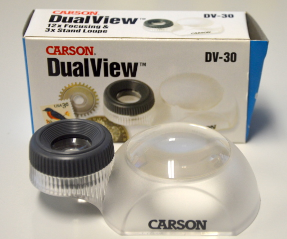 Carson DualView DV-30 12X Focusing & 3X Stand Loupe.