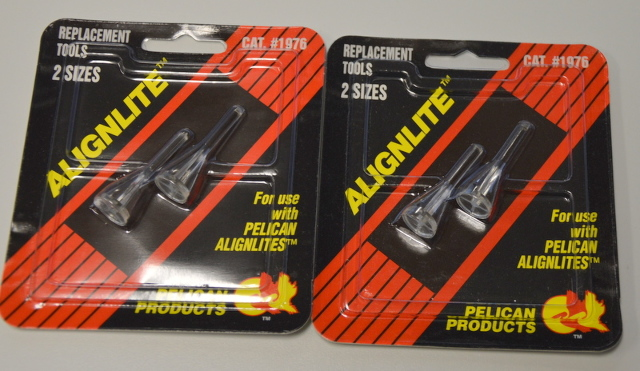 2-2 pks Pelican Alignlite #1976, Replacement Tools. 2 sizes per pk, for Alignlite only