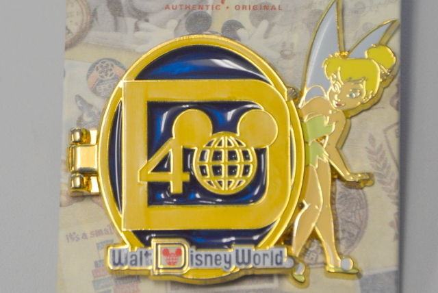 Walt Disney World Collectible Pin Locket type Pin with Walt inside. #4000