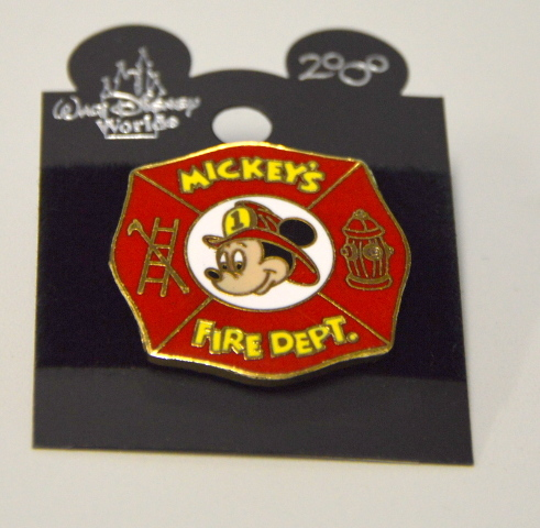 WDW Mickey's Fire Department Pin - Mickey Mouse #111