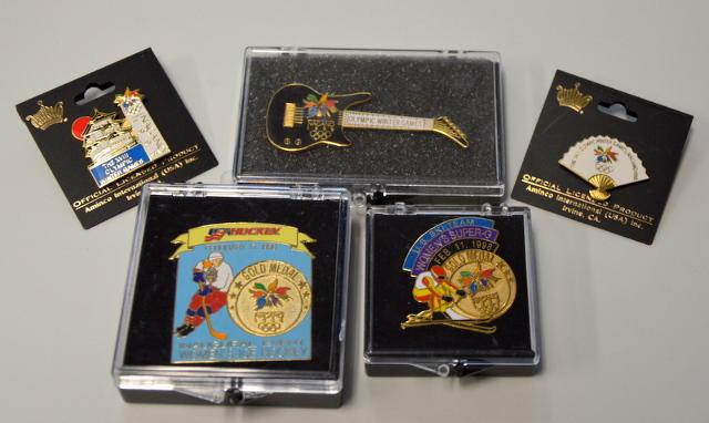 5 Nagano 1998 Olympic Pins - All new.