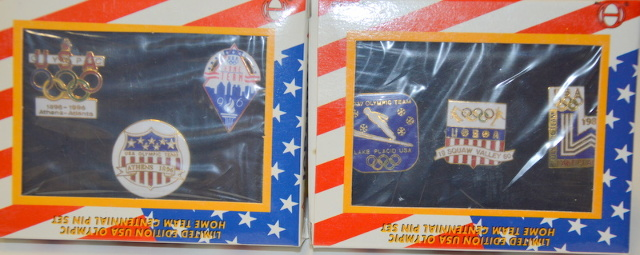 2 - 3 pc sets of 1996 LE USA Olympic Home Team Centennial Pin Sets