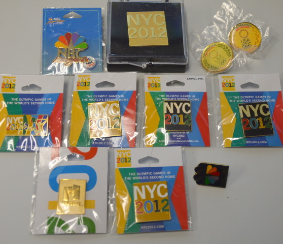 11 - NYC 2012 Olympic Collectible Pins  #35850